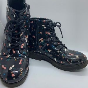 """3/ $20 Black H&M """"docs"""" with flowers and birds"""